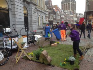 Pop-up in actie